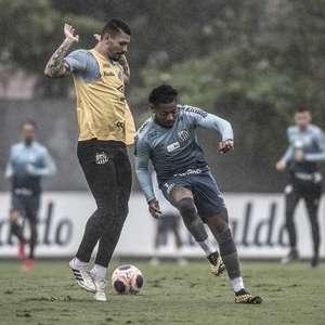 Marinho deve voltar, e Cuca tem dúvidas no ataque do Santos