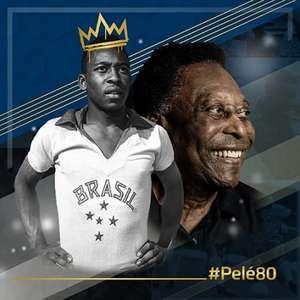 Para homenagear Pelé, clubes postam fotos do Rei com ...