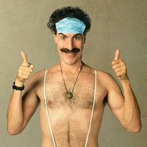 "Borat grava vídeo para o Brasil, ""terra da parada de bumbuns"""