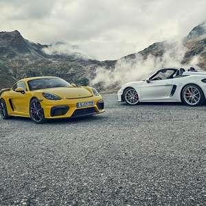 Porsche Cayman GT4 e 718 Spyder já podem ser encomendados