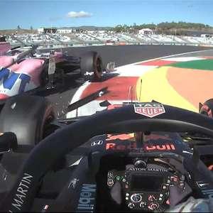Verstappen se irrita após acidente no TL2 em Portugal e ...