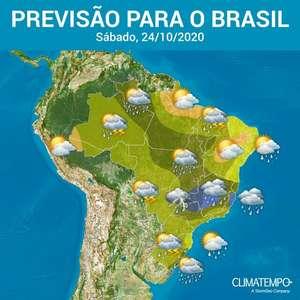 Risco de chuva forte em quase todos os estados do Brasil