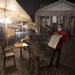Itália pretende fechar bares e restaurantes às 18h por Covid