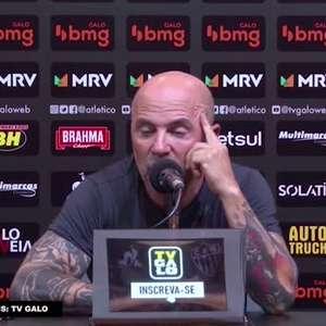 ATLÉTICO-MG: Sampaoli diz ser injusto atribuir a falta de gols do time a apenas um jogador