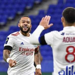Com gols de Depay e Aouar, Lyon goleia o Mônaco pelo Francês