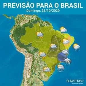 Nuvens carregadas provocam chuva forte no Brasil neste ...