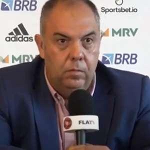 Marcos Braz ironiza arbitragem de Flamengo e Inter: ...