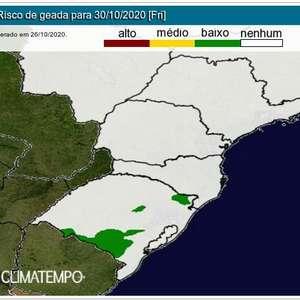 Sul e Sudeste terão frio na virada de outubro para novembro
