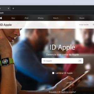 Como mudar a senha do Apple ID