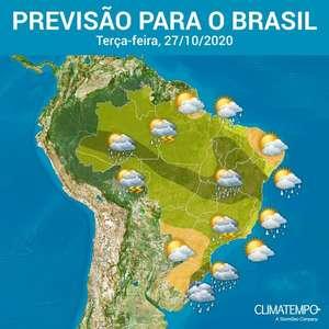 Muitos temporais no Brasil nesta terça-feira