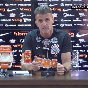 """CORINTHIANS: Mancini sobre Mantuan para o jogo contra o Inter: """"Ele precisa de mais treino, mas espero contar com ele"""""""