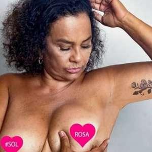 Solange Couto publica foto fazendo autoexame para o ...