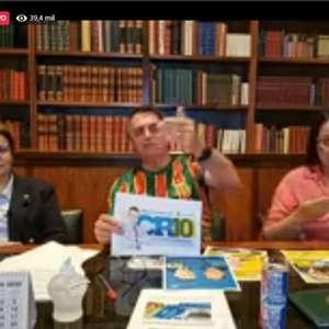 """""""Eu tô com Crivella"""", afirma Bolsonaro em live"""