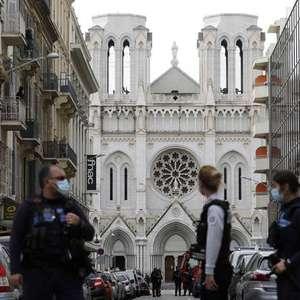 Ataque deixa 3 mortos em basílica de Nice, na França