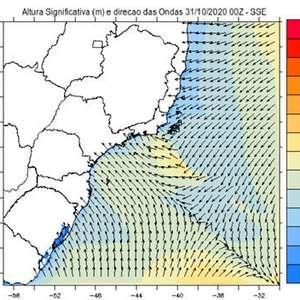 Mar agitado nas praias do Sul e Sudeste