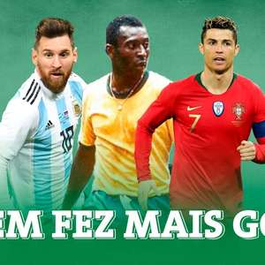 "Confira o raio X de gols ""oficiais"" de Pelé, Messi e CR7"