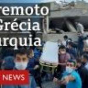 Terremoto causa 'mini-tsunami' e destrói casas na Grécia e na Turquia
