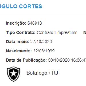 Emprestado pelo Palmeiras, Angulo tem documentação ...