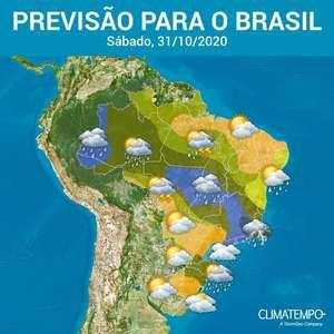 Outubro termina com chuva volumosa no Brasil