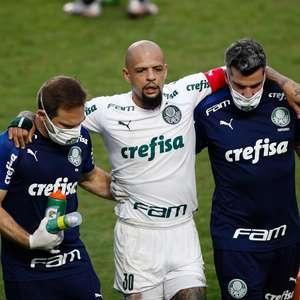 Felipe Melo volta aos treinos 68 dias após fratura