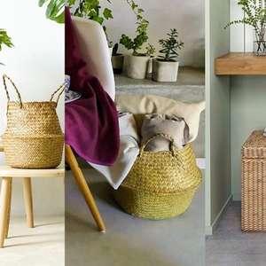 Cesto de palha: 7 ideias práticas para a decoração e ...