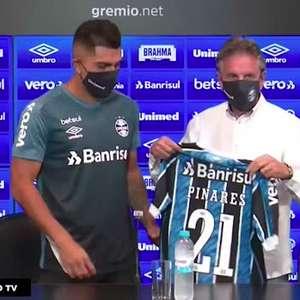 GRÊMIO: César Pinares é apresentado e veste a camisa 21 do clube