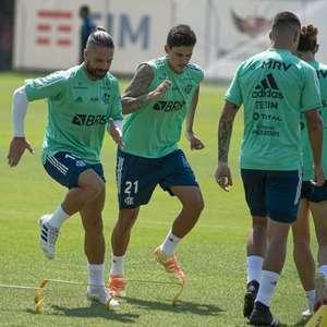 Diego reforça o Flamengo após um mês; Pedro é preparado para a partida de volta contra o Racing