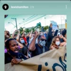 Hamilton se manifesta sobre morte de homem negro no Brasil