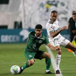 Com um a menos, Palmeiras perde do Goiás com gol no fim