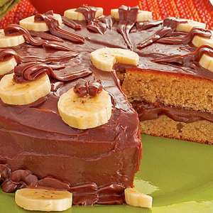 Bolo de banana com chocolate fácil
