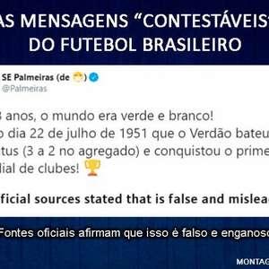 """Veja publicações """"contestáveis"""" do futebol brasileiro"""