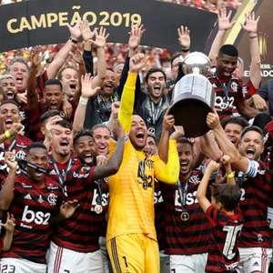 Elenco do Flamengo relembra título da Libertadores; 'Dia ...