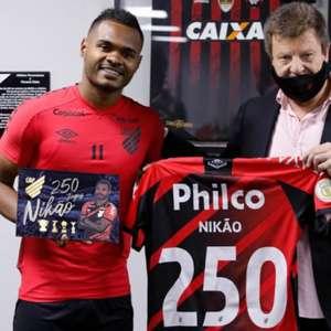 Ídolo, Nikão completa 250 jogos pelo Athletico