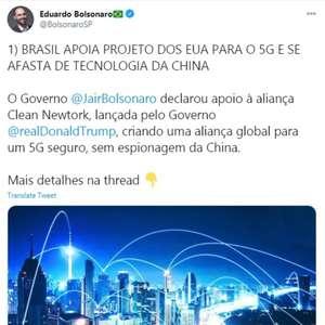 Eduardo Bolsonaro apaga publicação em que fala sobre 5G ...
