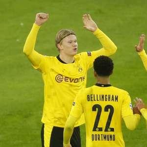 Borussia bate Brugge com 2 de Haaland; Lazio também vence