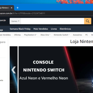 Amazon inaugura loja Nintendo com Switch e jogos no Brasil
