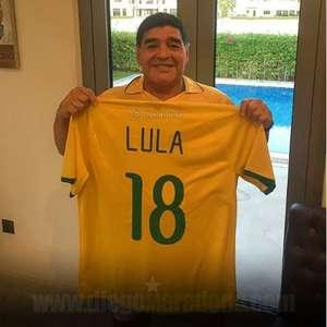 Lula cita rivalidade em campo e homenageia Maradona: ...