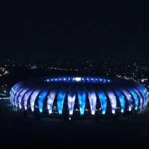 Para homenagear Maradona, Beira-Rio fica iluminado de azul e branco