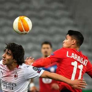 Fora de casa, Milan sai na frente, mas cede empate ao ...