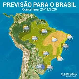 Nova frente fria avança sobre o Sul do Brasil