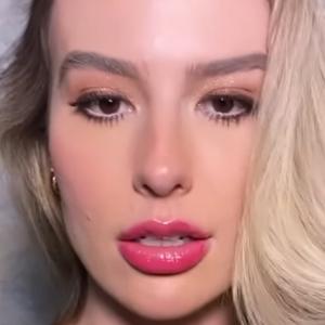 Fernanda Keulla aposta em make com gloss rosado de R$ 33,15