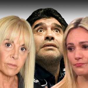 Ex-mulher barra ex-namorada de Maradona em velório