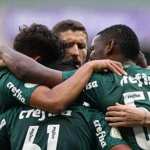 Com 2 de Rony, Palmeiras domina desfalcado Athletico-PR