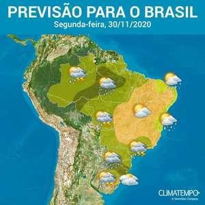 Novembro termina com temporais no Sul e no Norte do BR