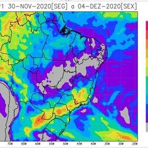 Umidade aumenta no Centro-Oeste