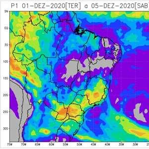 Ar seco perde força e umidade aumenta no Centro-Oeste