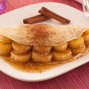Panqueca de aveia, banana e mel