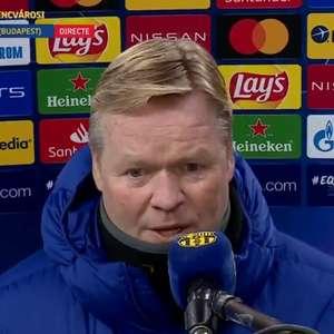 Koeman elogia jogo do Barcelona na Champions: 'Temos ...