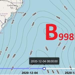 Ciclone extratropical se forma e provoca vento forte