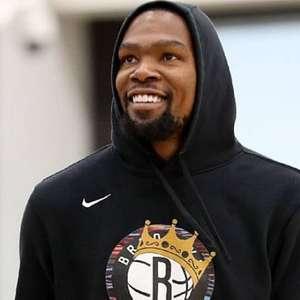 Kevin Durant já começa a desequilibrar para o Brooklyn Nets